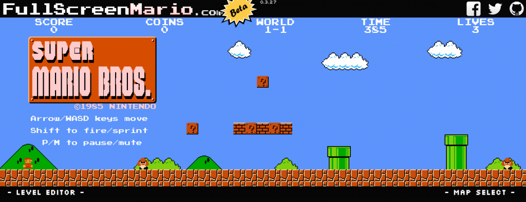 super mario game online