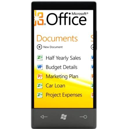 Windows Phone 7 - Microsoft Office