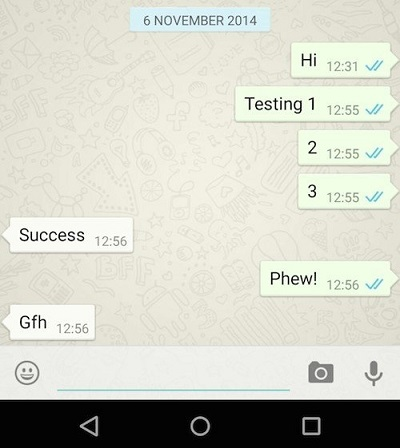 Whatsapp Blue Colored Double Tick Marks